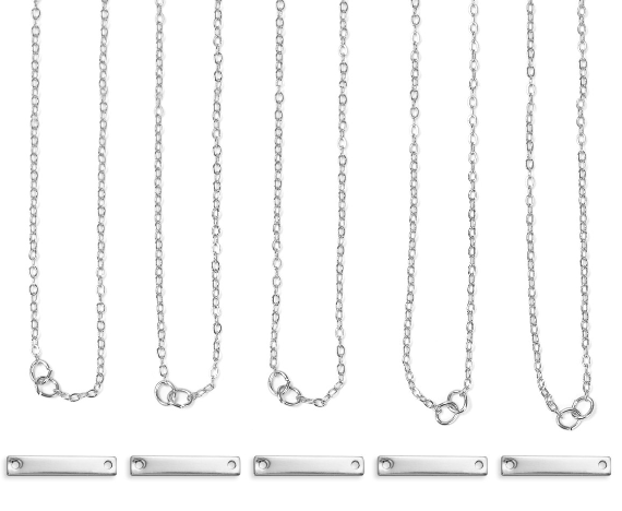 Personal Impressions<br>Small Rectangle - 5 Pieces<br>Silver Plated