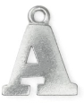 Letter Charm A<br>Pewter Stamping Blank<br>19mm