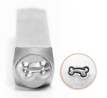 Dog Bone<br>Design Stamp<br>6mm