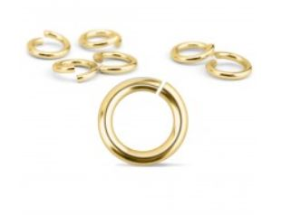 Brass Jump Rings<br>19 Gauge-4mm<br>50 Pieces