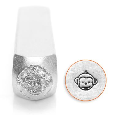 Monkey Face<br>Design Stamp<br>6mm