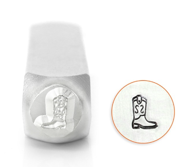 Cowboy Boot<br>Design Stamp<br>6mm