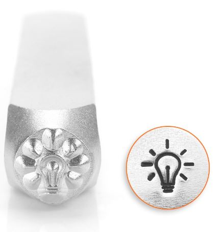 Light Bulb<br>Design Stamp<br>6mm