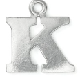 Letter Charm K<br>Pewter Stamping Blank<br>19mm