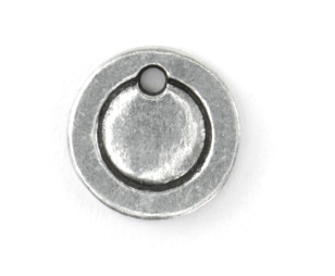 Circle Border Small<br>Pewter Stamping Blank<br>11mm x 11mm
