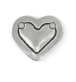 Heart Border Small<br>Pewter Stamping Blank<br>16mm x 13mm