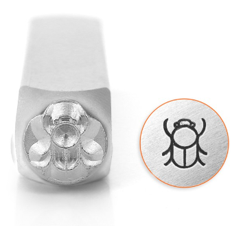 Scarab Beetle<br>Design Stamp<br>6mm