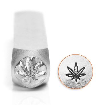Hemp Leaf<br>Design Stamp<br>6mm