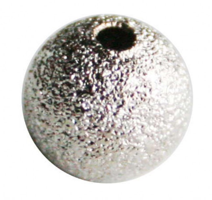 Sandblast Round Bead<br>Nickel Free<br>8mm Bead / 10 Pack