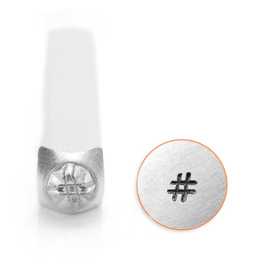 HashTag<br>Design Stamp<br>3mm