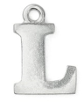 Letter Charm L<br>Pewter Stamping Blank<br>19mm