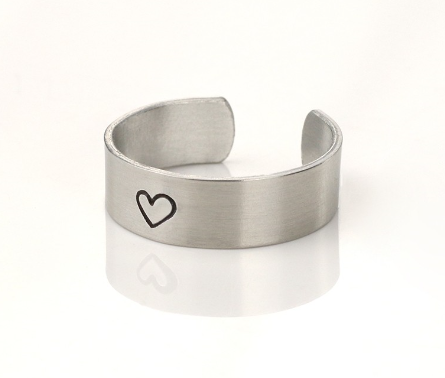 Ring, Size 7-9<br>Aluminium Stamping Blank<br>6mm x 57mm