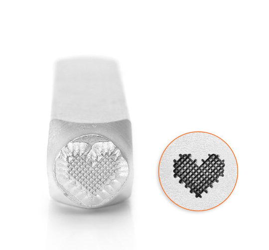 Patchwork Heart<br>Design Stamp<br>6mm