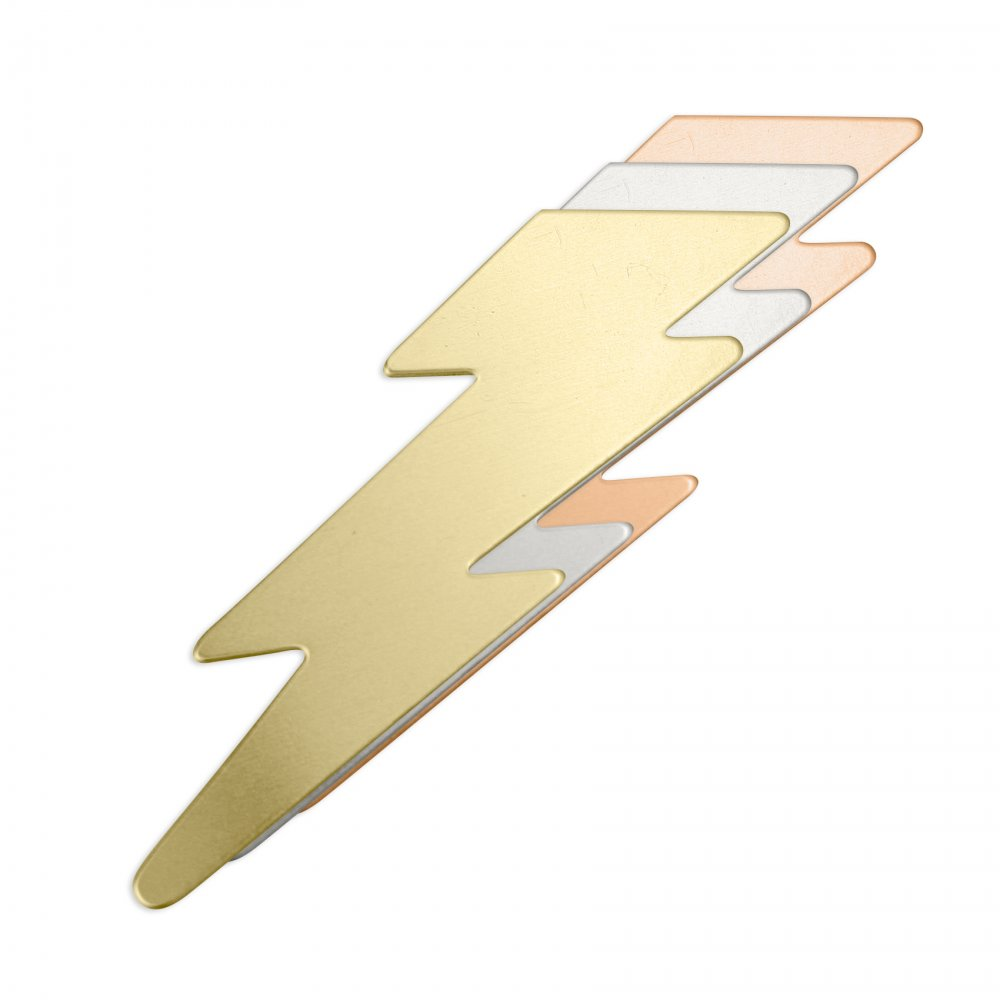 Lightning Bolt<br>Stamping Blank<br>50mm