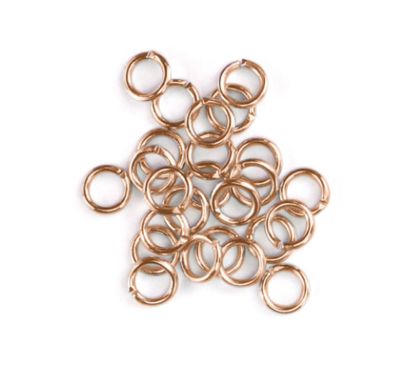 Artisan Real Rose Gold Plated<br>Jump Rings, 20 Gauge-7mm<br>90 Pack