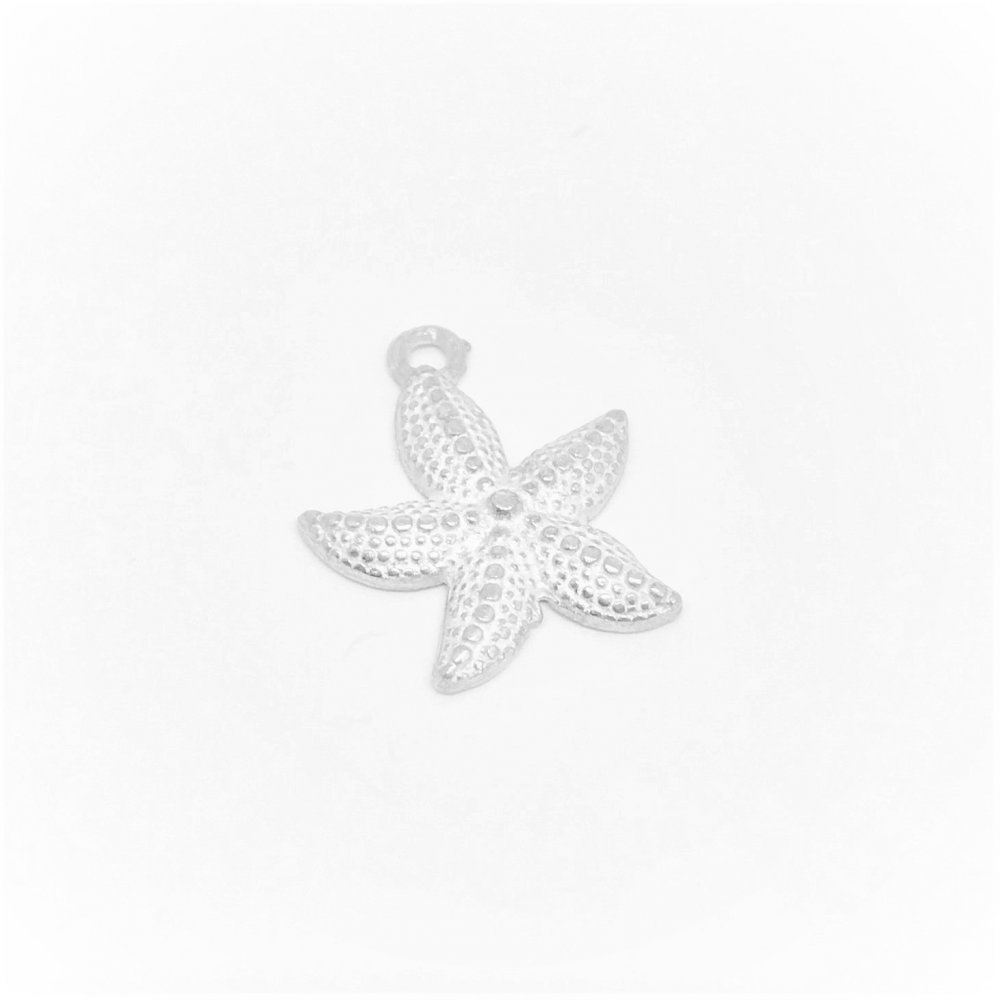 Starfish Charm<br>Cast Pewter<br>Large (18mm)