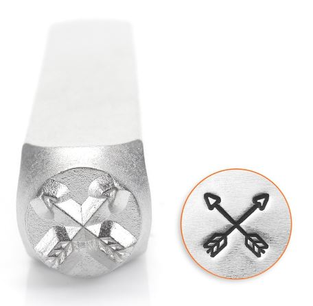 Crossed Arrows<br>Design Stamp<br>6mm