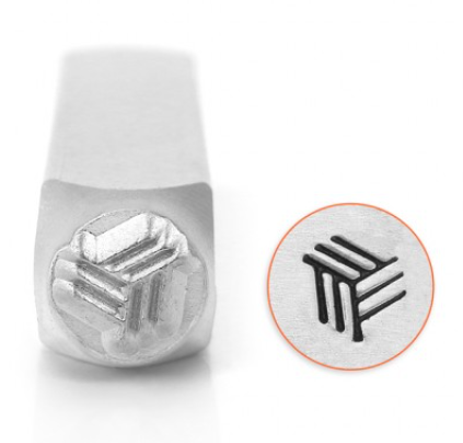 Angled Line Texture<br>Design Stamp<br>6mm