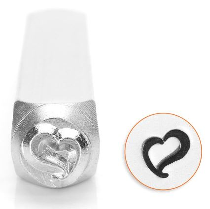 Swirly Heart<br>Design Stamp<br>6mm