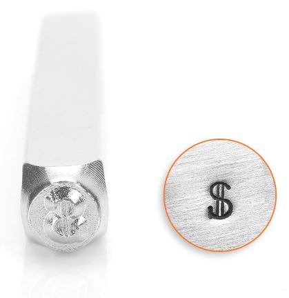 Dollar Sign<br>Design Stamp<br>3mm