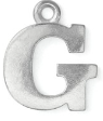 Letter Charm G<br>Pewter Stamping Blank<br>19mm