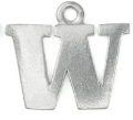Letter Charm W<br>Pewter Stamping Blank<br>19mm