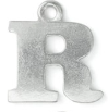 Letter Charm R<br>Pewter Stamping Blank<br>19mm