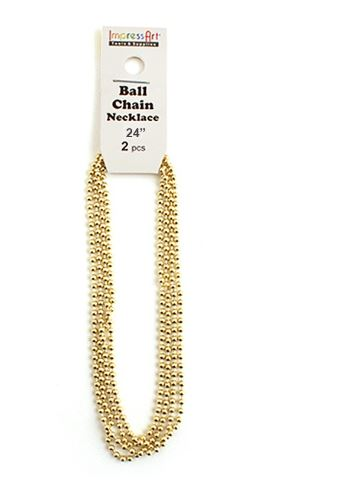 Ball Chain<br>Brass<br>2 Pack - 60cm