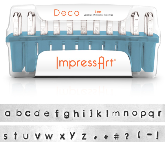 Deco<br>Lowercase Letter Set<br>3mm