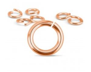 Copper Jump Rings<br>16 Gauge-6mm<br>50 Pieces