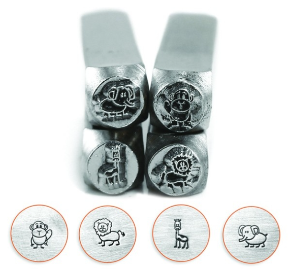 Stick Zoo Animals<br>Design Stamp Pack<br>4 Designs: 6mm