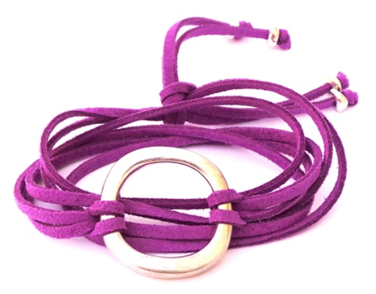 Carmen Circle<br>Purple Faux Suede<br>5-in-1