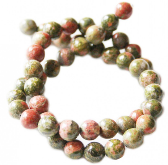 Unakite Bead String<br>Multi Colour<br>8mm Bead / 40cm String