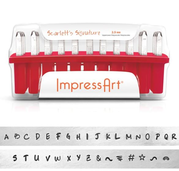 Scarlett's Signature<br>Uppercase Letter Set<br>2.5mm