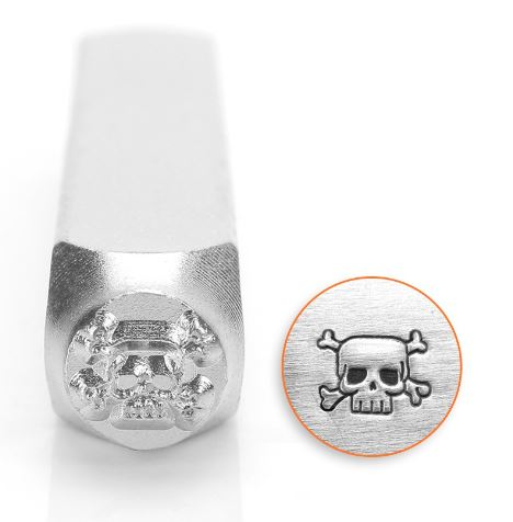 Skull and Crossbones<br>Design Stamp<br>6mm