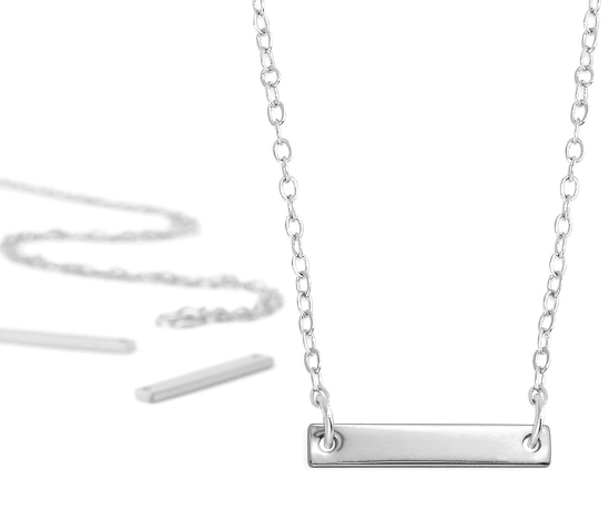 Personal Impressions<br>Small Rectangle - 1 Piece<br>Silver Plated