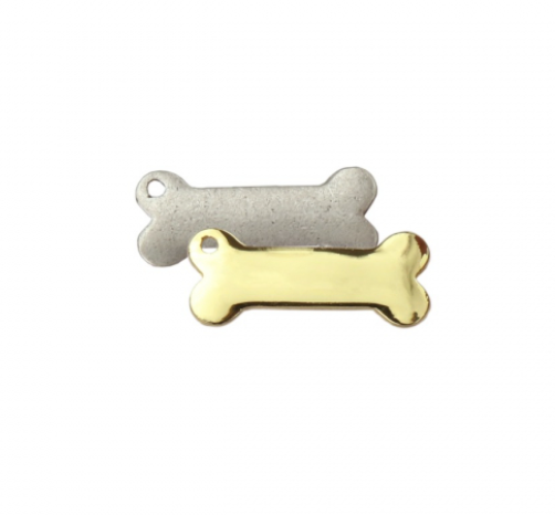 Dogbone Charm<br>Artisan Stamping Blank<br>32mm x 16mm