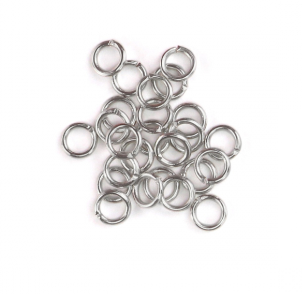 Artisan Real Silver Plated<br>Jump Rings, 20 Gauge-7mm<br>90 Pack