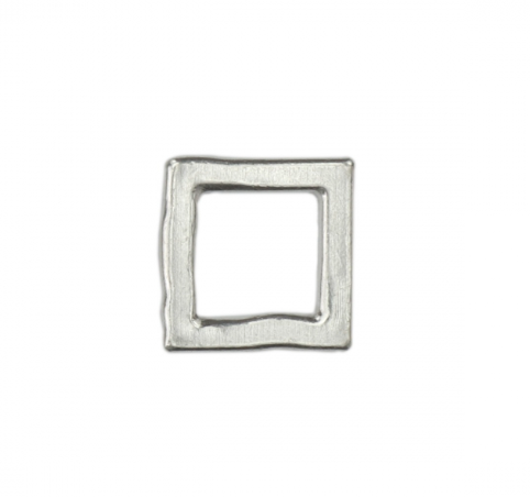 Square Organic Washer<br>Pewter Stamping Blank<br>(Small) 23mm