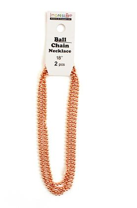 2 Pack Ball Chain<br>Copper<br>45cm
