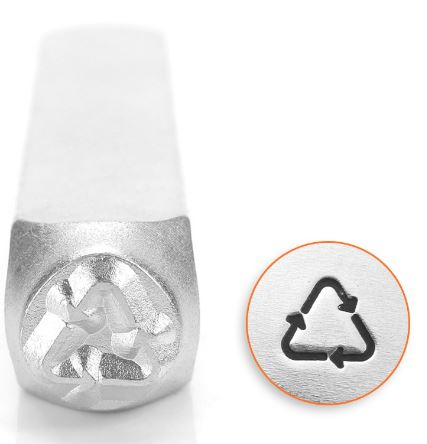 Recycle Symbol<br>Design Stamp<br>6mm