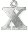 Letter Charm X<br>Pewter Stamping Blank<br>19mm