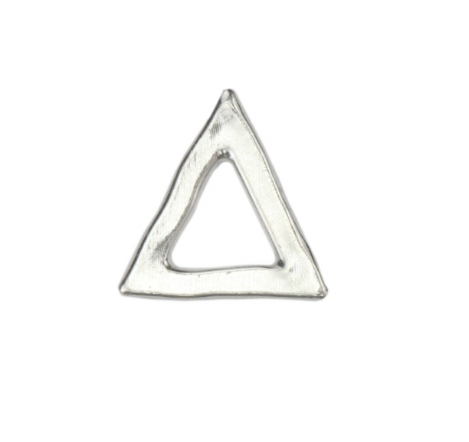 Triangle Organic Washer<br>Pewter Stamping Blank<br>(Large) 25mm