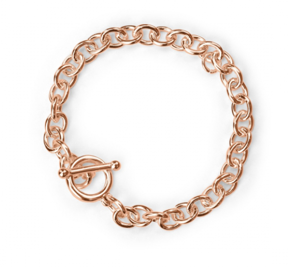 Charm Bracelet<br>Real Rose Gold Plated<br>18cm