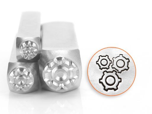 Gears<br>Design Stamps<br>3 Designs: 4mm/6mm/9.5mm