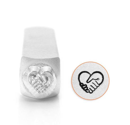 Heart Hands<br>Design Stamp<br>6mm