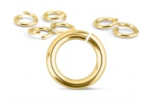 Brass Jump Rings<br>18 Gauge-5mm<br>50 Pack