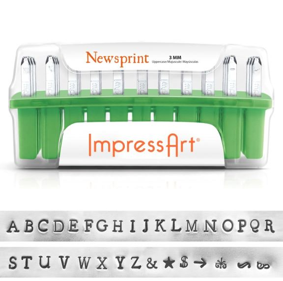 Newsprint<br>Uppercase Letter Set<br>3mm
