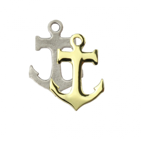 Anchor Charm<br>Artisan Stamping Blank<br>35mm x 16mm