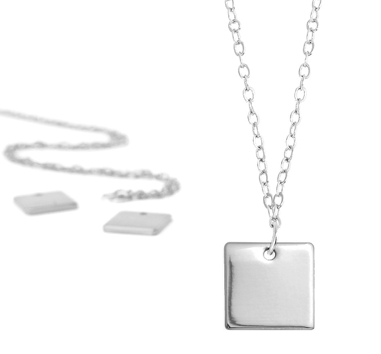 Personal Impressions<br>Square - 1 Piece<br>Silver Plated